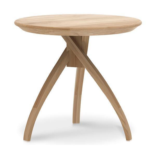 Oak Twist Side Table-FURNITURE-Maker & Moss