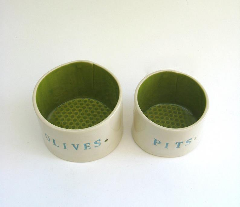 Olives & Pits Set Hunter Green-TABLETOP-Maker & Moss