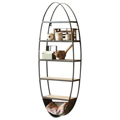 Oval Wall Shelf-FURNITURE-Maker & Moss
