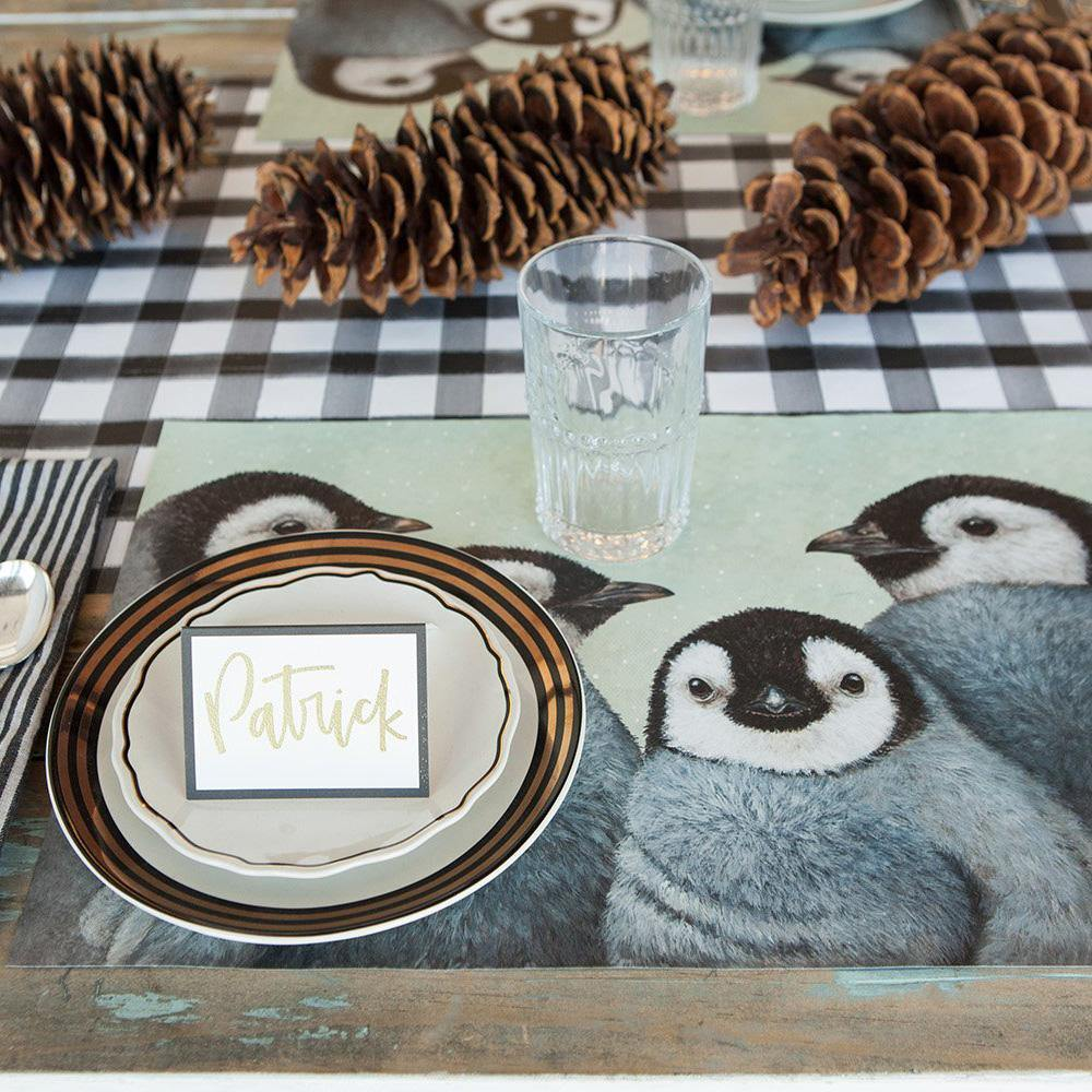 Winter White Penguins Placemats