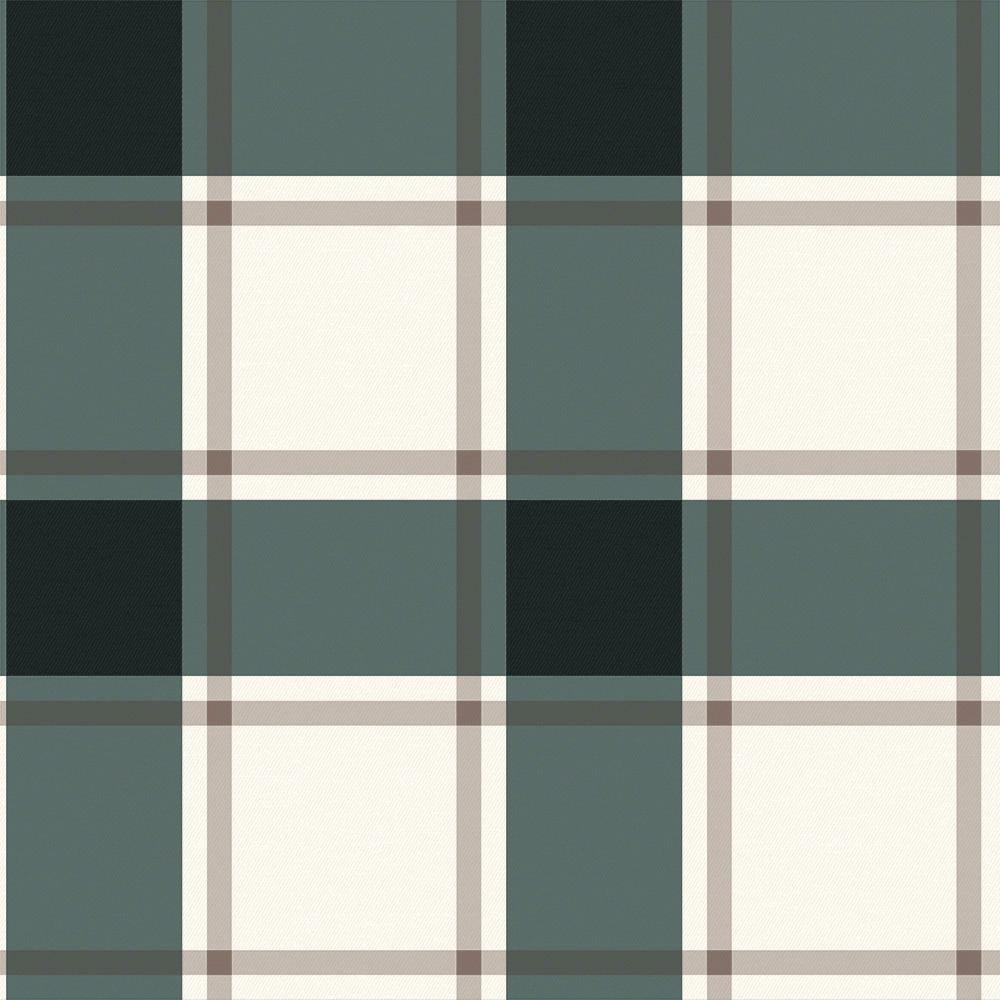 Plaid Black & Ivory Peel and Stick Wallpaper-LIFESTYLE-Maker & Moss