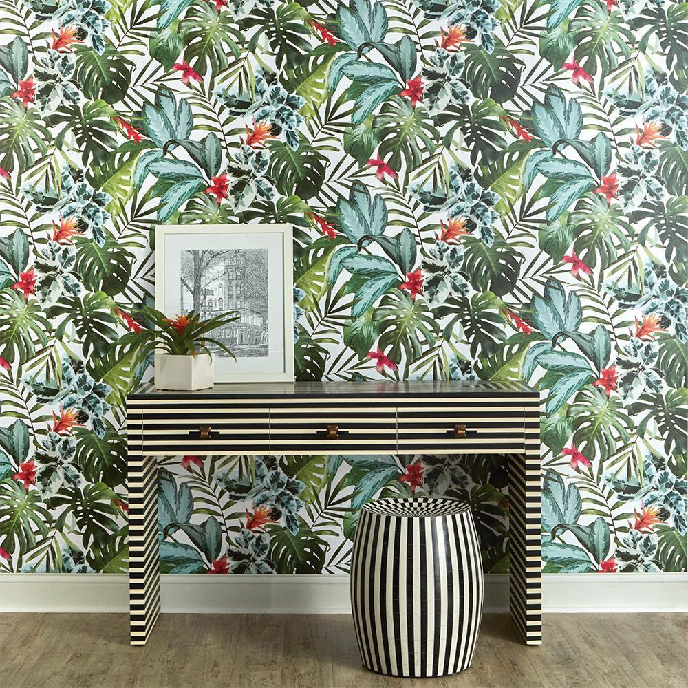 Rainforest Peel and Stick Wallpaper-LIFESTYLE-Maker & Moss
