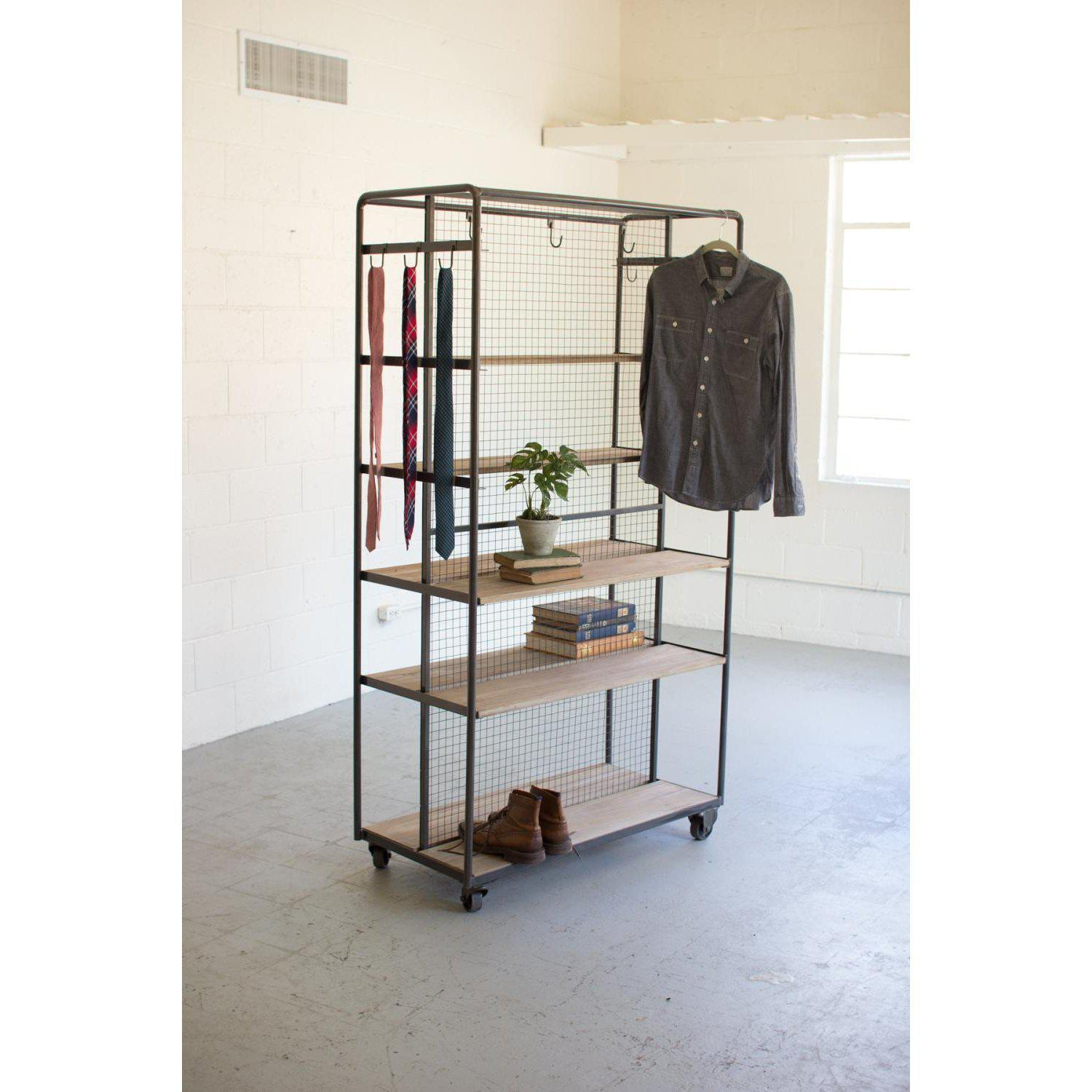 Rolling Closet-FURNITURE-Maker & Moss