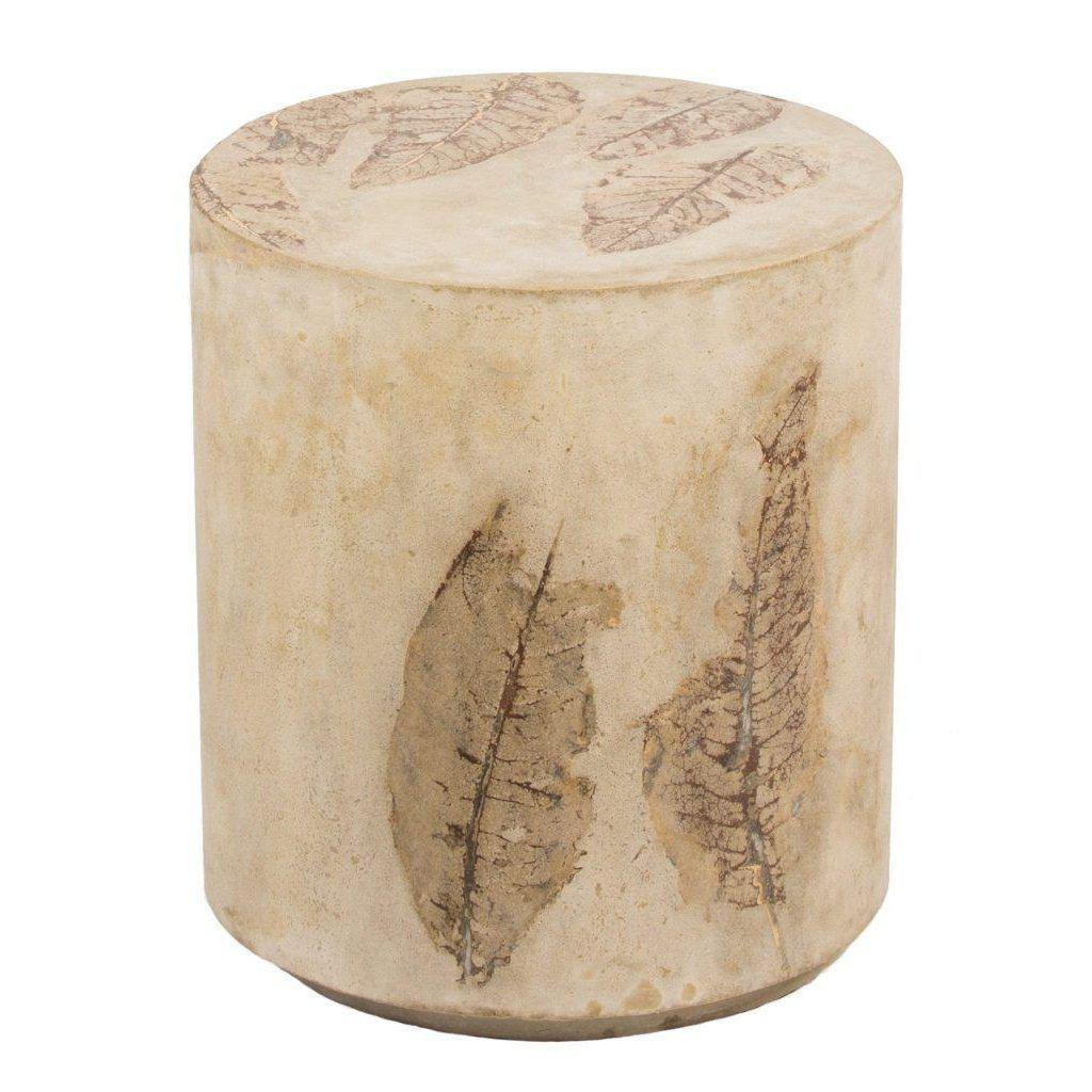 Round Concrete Stool-FURNITURE-Maker & Moss