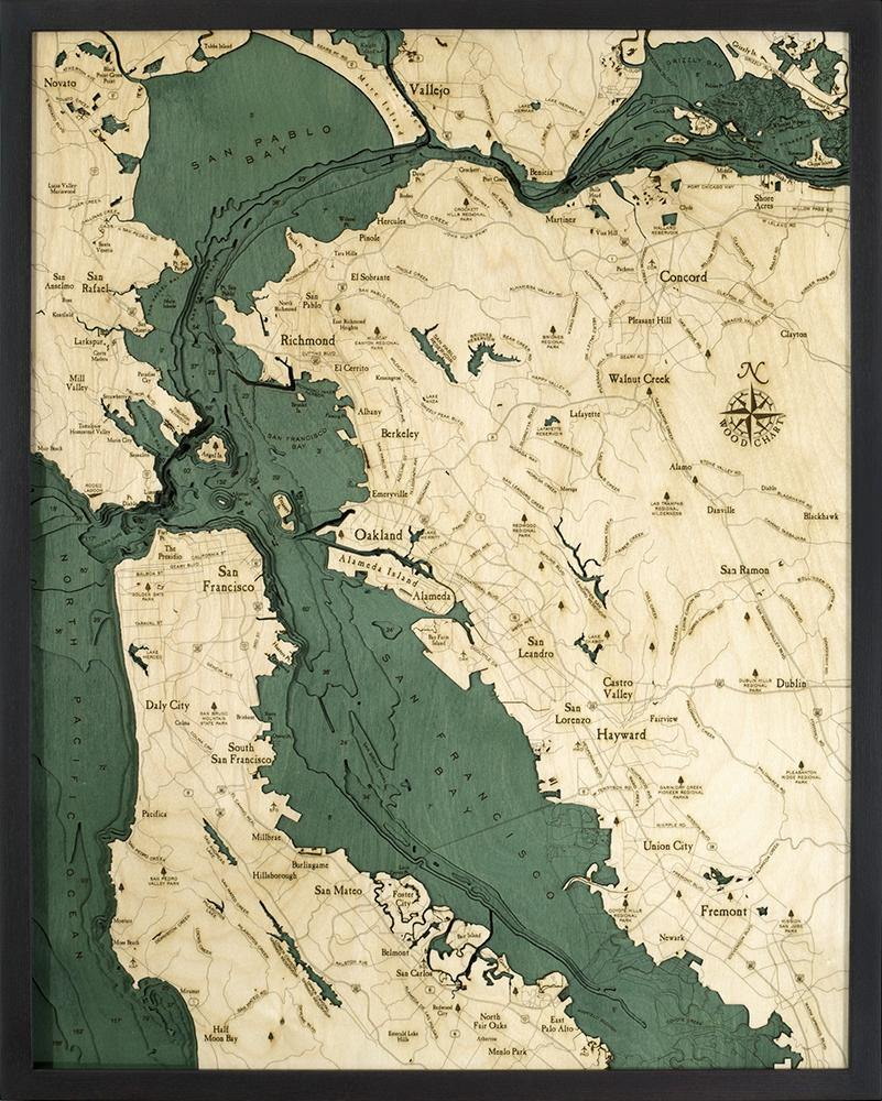 San Francisco Wood Chart-WOOD CHART-Maker & Moss
