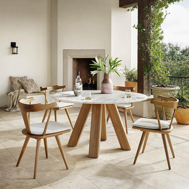 Sandy Outdoor Dining Table - Maker & Moss