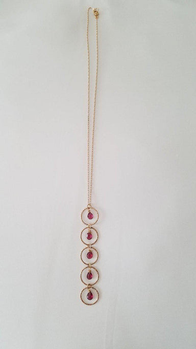 "Sapphires with Circles, 16"" 14K Gold Filled Chain Necklace-Jewelry-Maker & Moss"