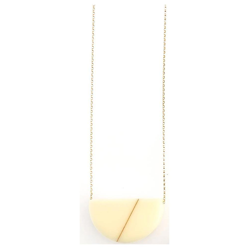 Sofie Necklace - Cream Soft Gold-Jewelry-Maker & Moss