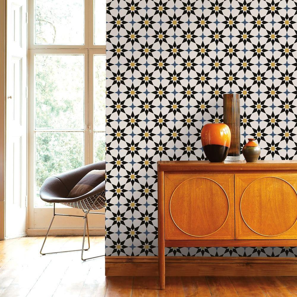 Soleil Moroccan Spice Peel and Stick Wallpaper-LIFESTYLE-Maker & Moss