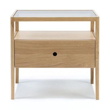 Spindle Bedside Table-FURNITURE-Maker & Moss