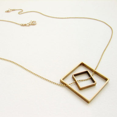 Square Statement Necklace-Jewelry-Maker & Moss