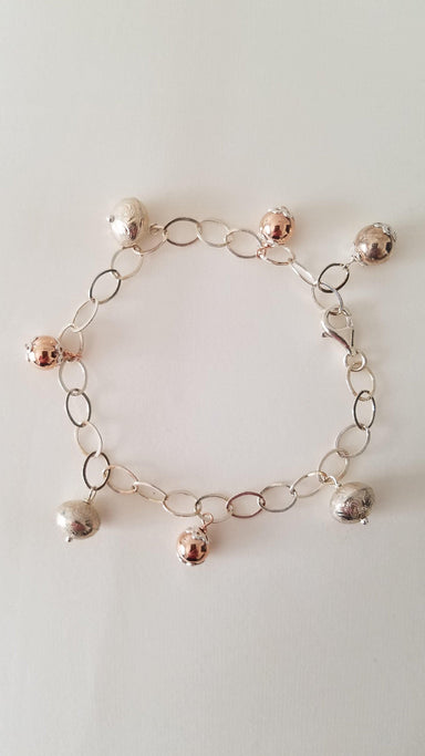 Sterling Silver and Rose Gold Bracelet-Jewelry-Maker & Moss