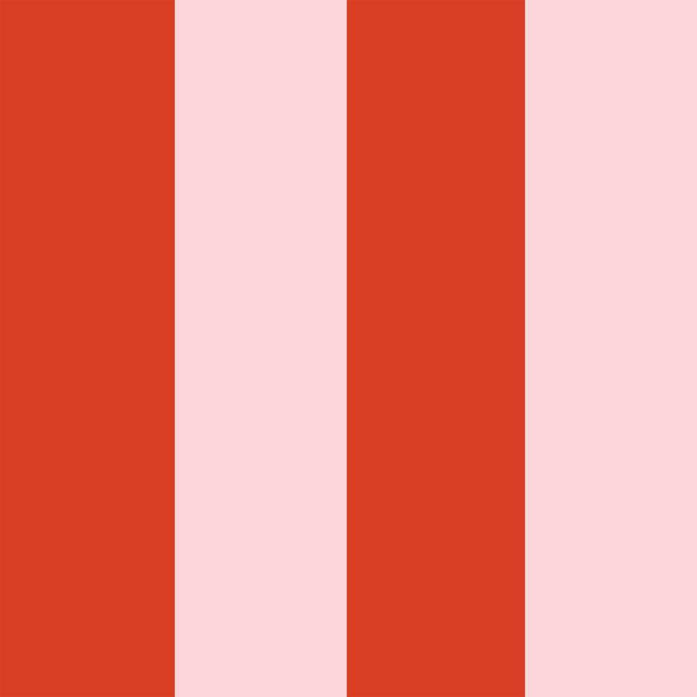 Stripe Playhouse Pink Peel and Stick Wallpaper-LIFESTYLE-Maker & Moss