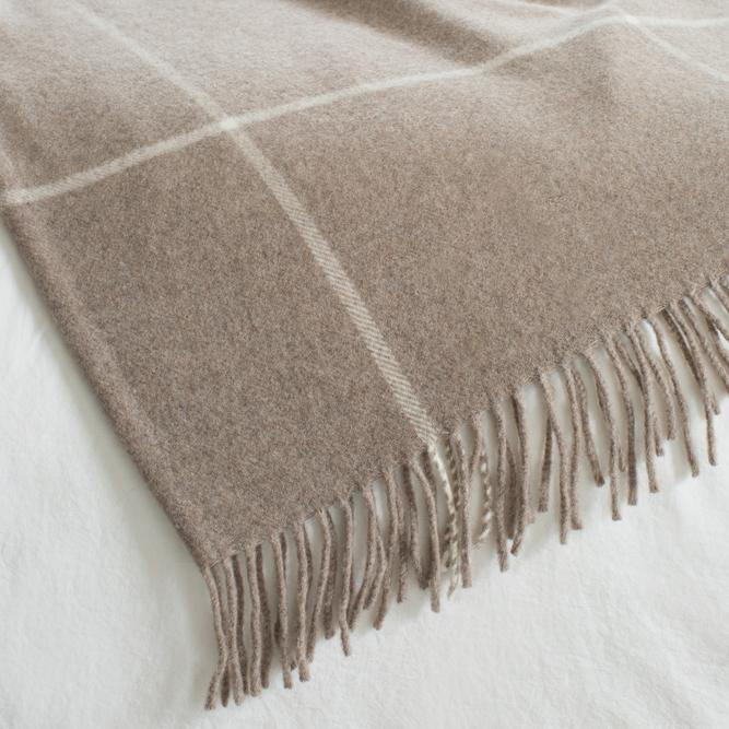 Cashmere Windowpane Throw