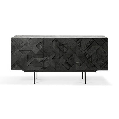 Teak Graphic Black Sideboard-FURNITURE-Maker & Moss
