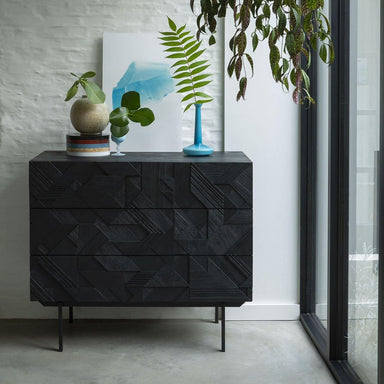 Teak Graphic Chest of Drawers-FURNITURE-Maker & Moss