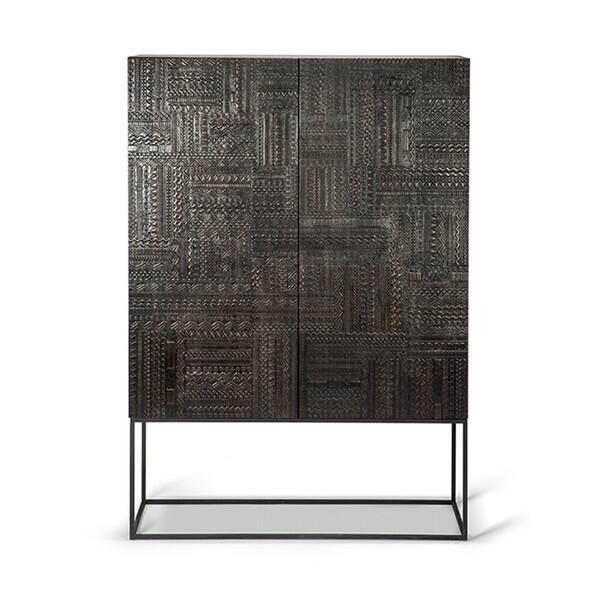 Teak Tabwa Black Storage Cupboard-FURNITURE-Maker & Moss