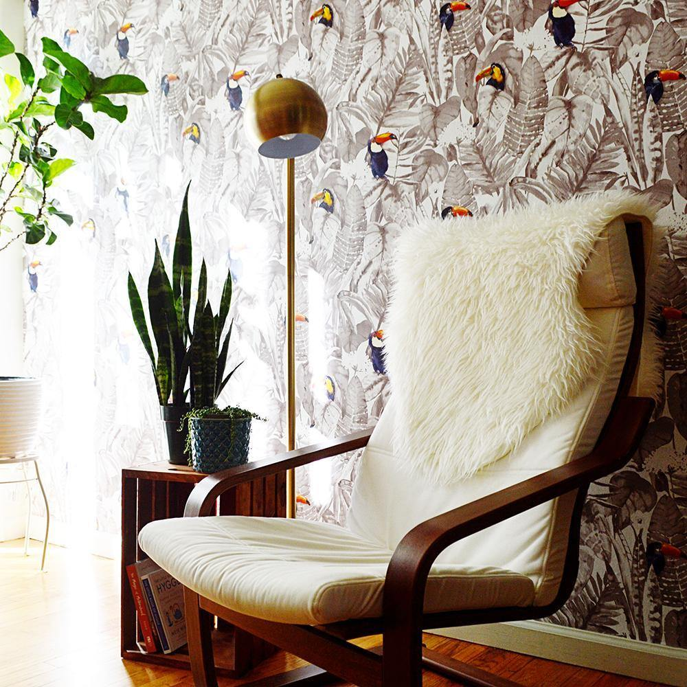Toucan Newspaper Peel and Stick Wallpaper-LIFESTYLE-Maker & Moss