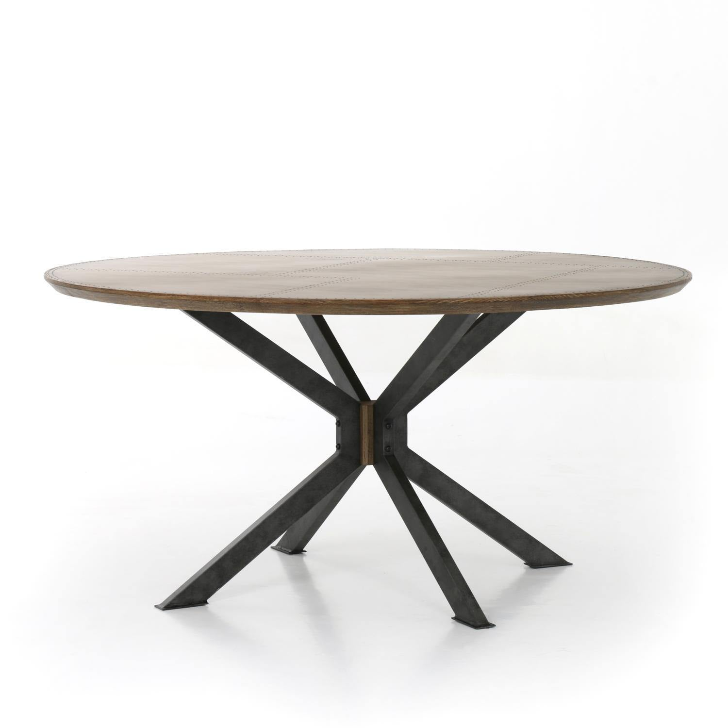 "Trestle Round 60"" Dining Table-FURNITURE-Maker & Moss"