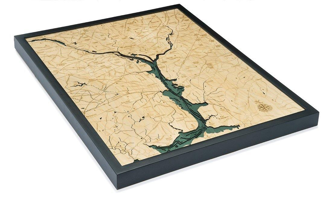 Washington D.C. Wood Chart-WOOD CHART-Maker & Moss