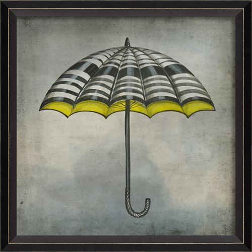White Black and Yellow Umbrella in the Clouds-GALLERY-Maker & Moss