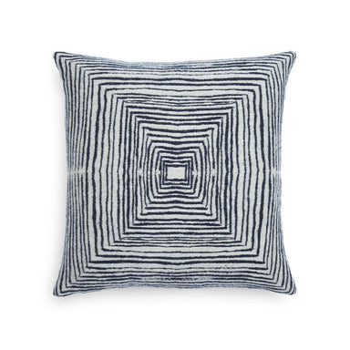 White Linear Square Cushion-TEXTILES-Maker & Moss