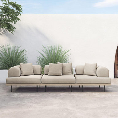 Yara Outdoor 3 Pc Sectional-Brown/Sand-FURNITURE-Maker & Moss