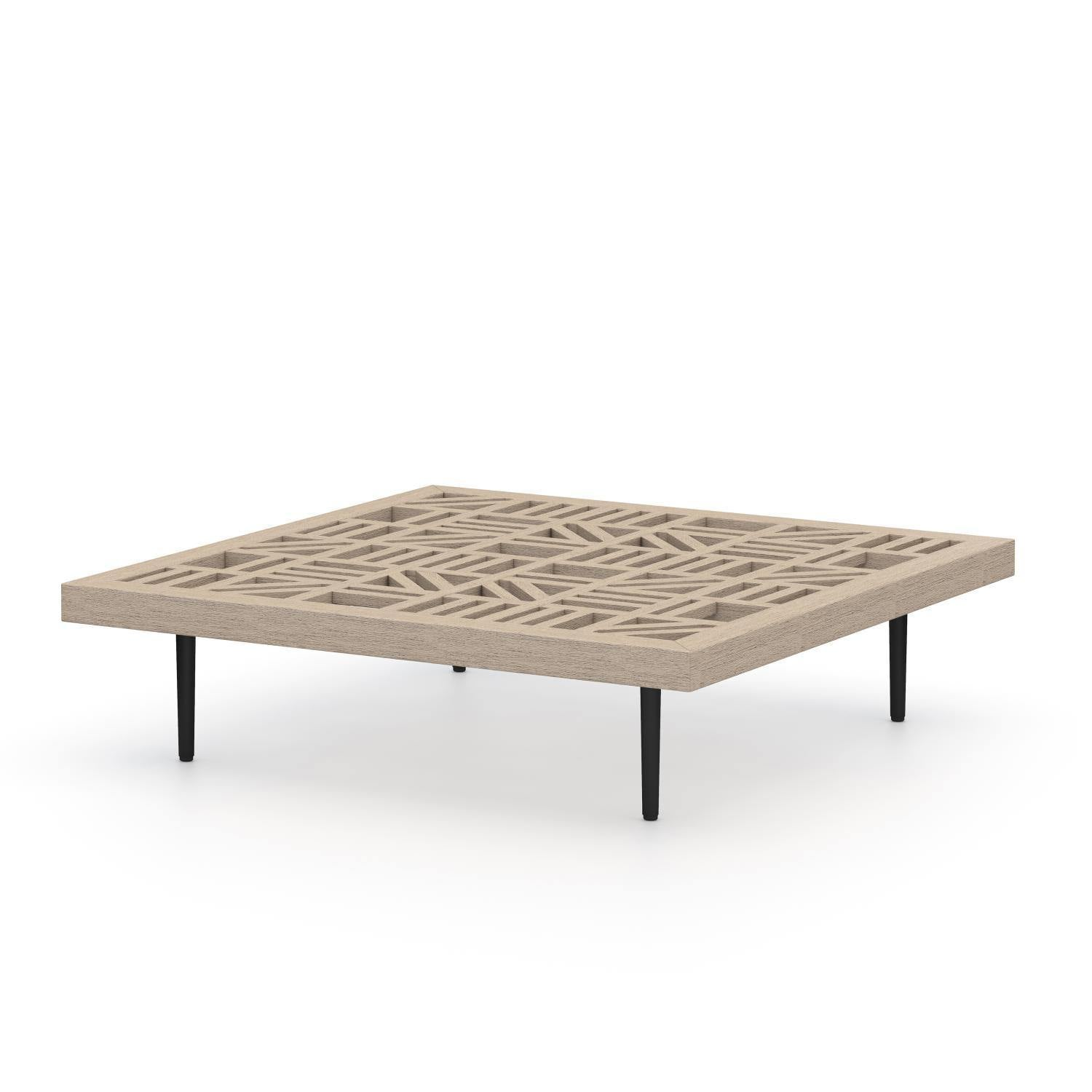 Yara Outdoor Low Coffee Table-Brown-FURNITURE-Maker & Moss