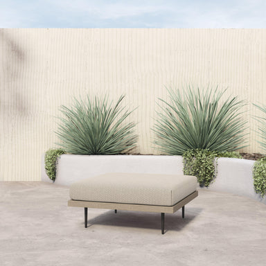 Yara Outdoor Sectional Ottoman Piece Washed Brown and Sand-FURNITURE-Maker & Moss