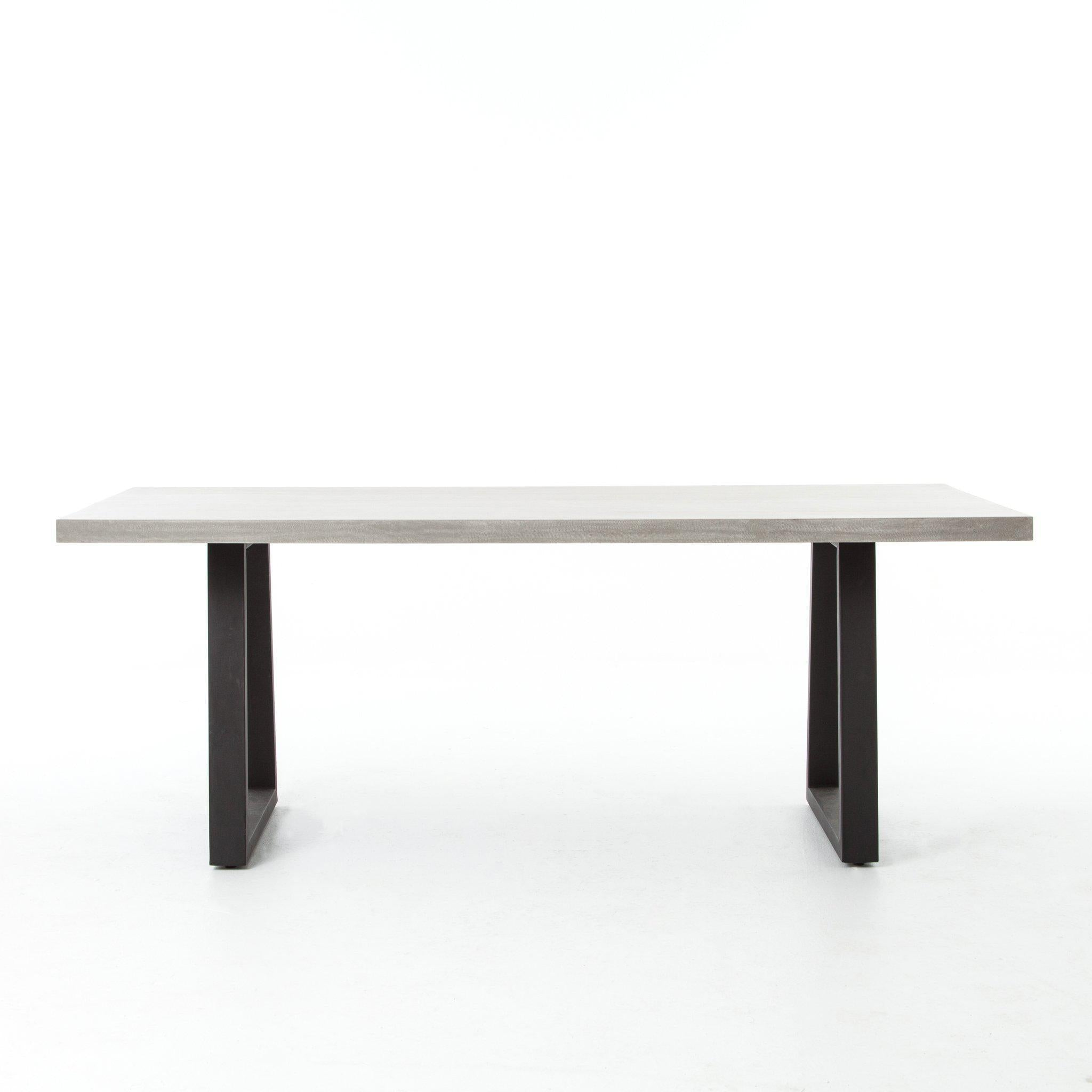 "Zen Dining Table-79""-Grey-FURNITURE-Maker & Moss"