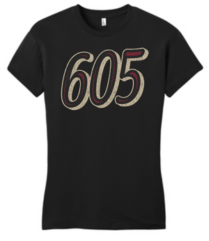 South Dakota 605 Women's Fitted Tee