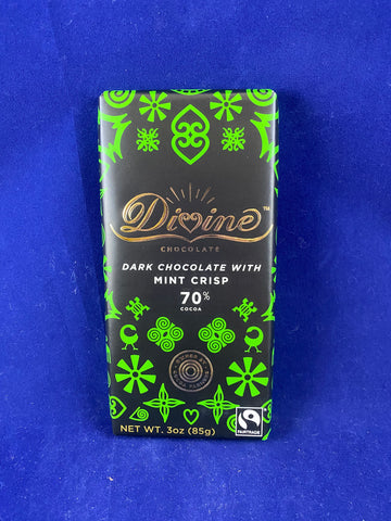 Divine Dark Chocolate Mint Crisp 70%