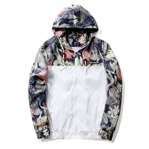 Floral Windbreaker Jacket - HORZO