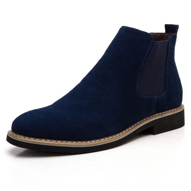 Genuine Leather Chelsea Boots - HORZO