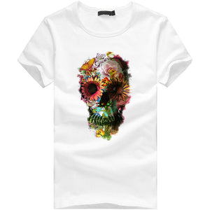 Men Punk Skull T-Shirt