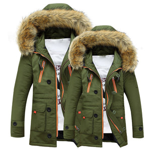 Unisex Outdoor Warm Winter Long Hood Coat Jacket (2 colors)