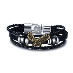 Lucky Vintage Leather Bracelet Eagle