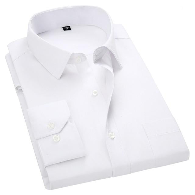 Business Casual Long Sleeved Shirt White