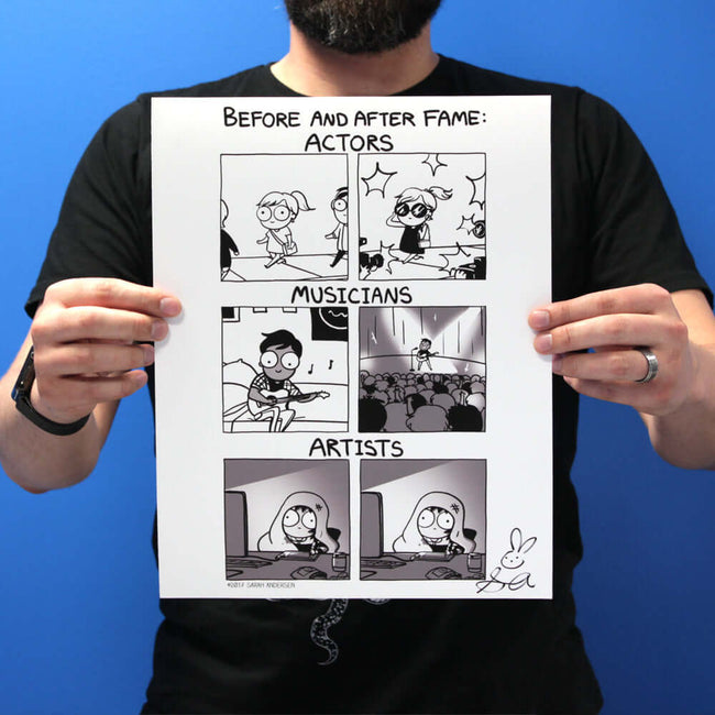 """BEFORE AND AFTER FAME"" Print"