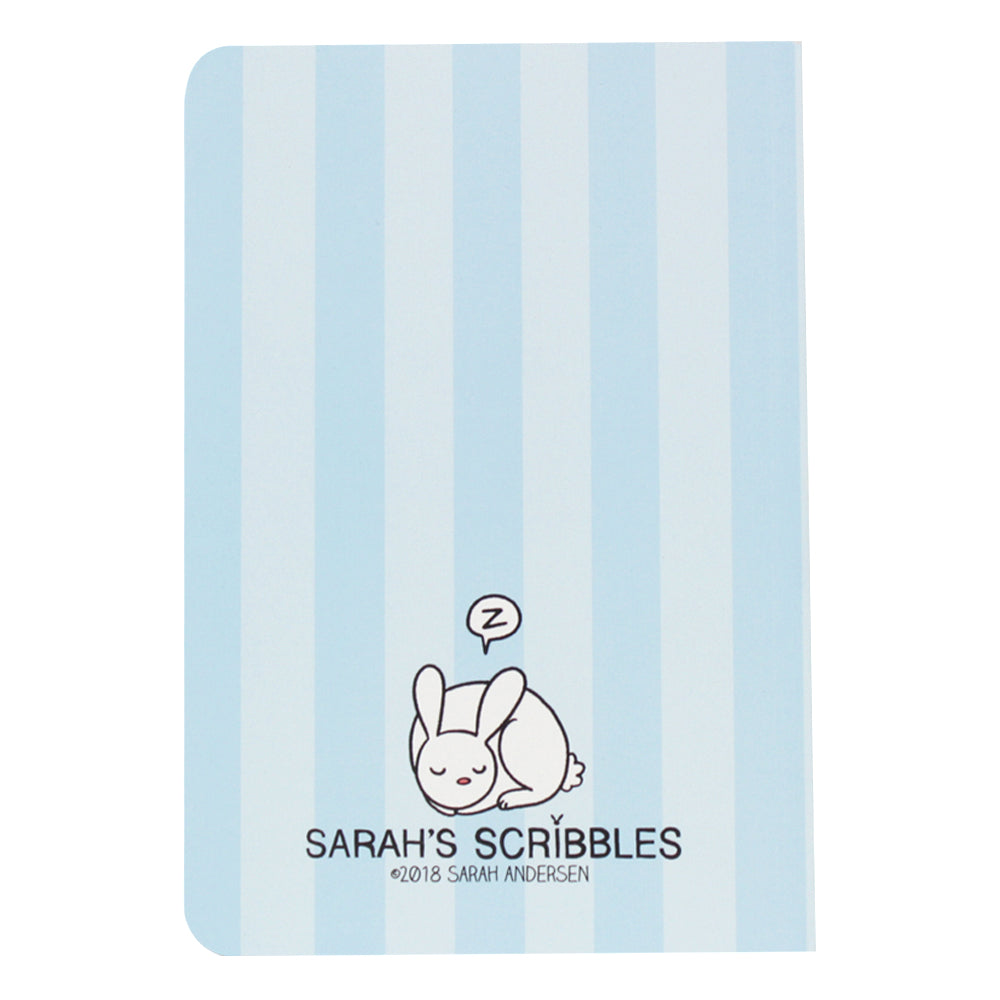 Blue Stripe Sarah's Scribbles Notebook