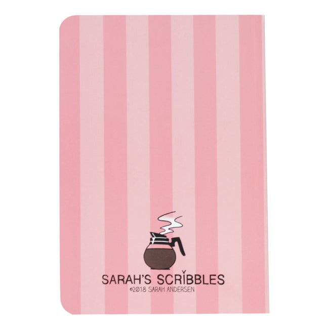 Pink Stripe Sarah's Scribbles Notebook