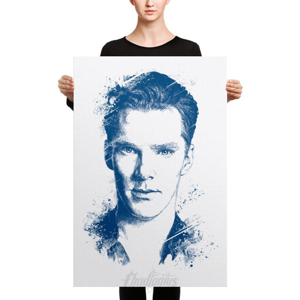 Benedict Cumberbatch - Canvas Art 24×36 Canvas Chadlonius
