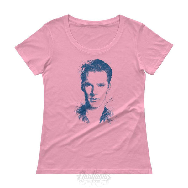 Benedict Cumberbatch T-Shirt - Ladies Scoopneck Charitypink / Xs Womens Shirts Chadlonius