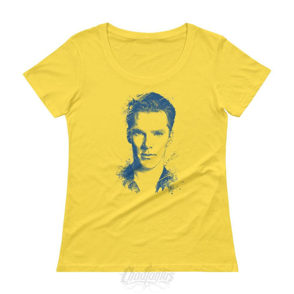 Benedict Cumberbatch T-Shirt - Ladies Scoopneck Lemon Zest / Xs Womens Shirts Chadlonius