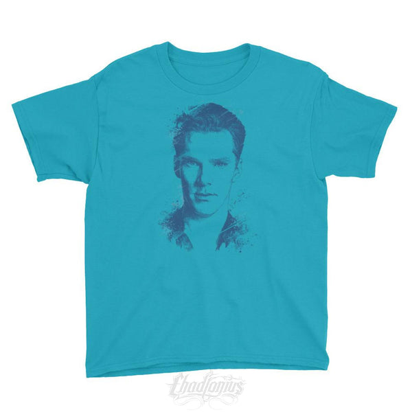 Benedict Cumberbatch - Youth Short Sleeve T-Shirt Caribbean Blue / Xs Kid Shirts Chadlonius