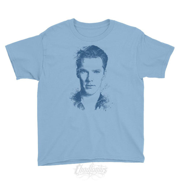 Benedict Cumberbatch - Youth Short Sleeve T-Shirt Light Blue / Xs Kid Shirts Chadlonius