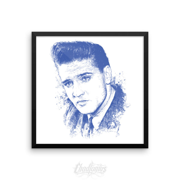 ELVIS - Framed photo paper poster