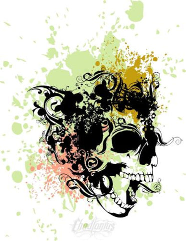 Flying Punk Skull Vector Vector Chadlonius
