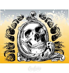 Free Yellow Money Skull Design Free Vector Chadlonius