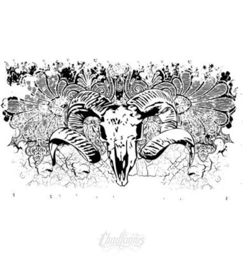 Goat Skull With Textured Background Vector Chadlonius